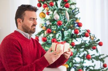 Man annoyed at Christmas
