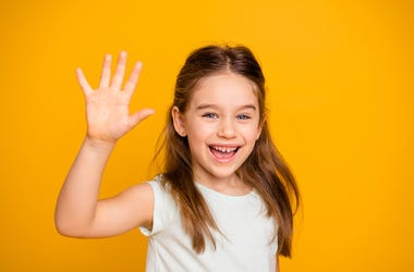 Waving Little Girl