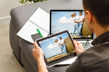 Tablet Watching Netflix