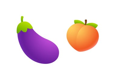 Eggplant and Peach