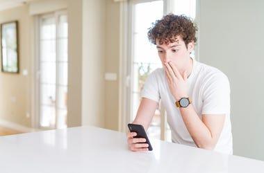 Shocked Teenage Boy