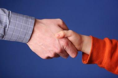 Father-Son Handshake