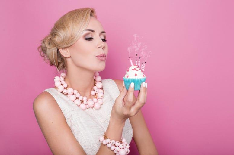 Blonde Woman's Birthday