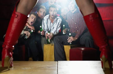 Men at Strip Club