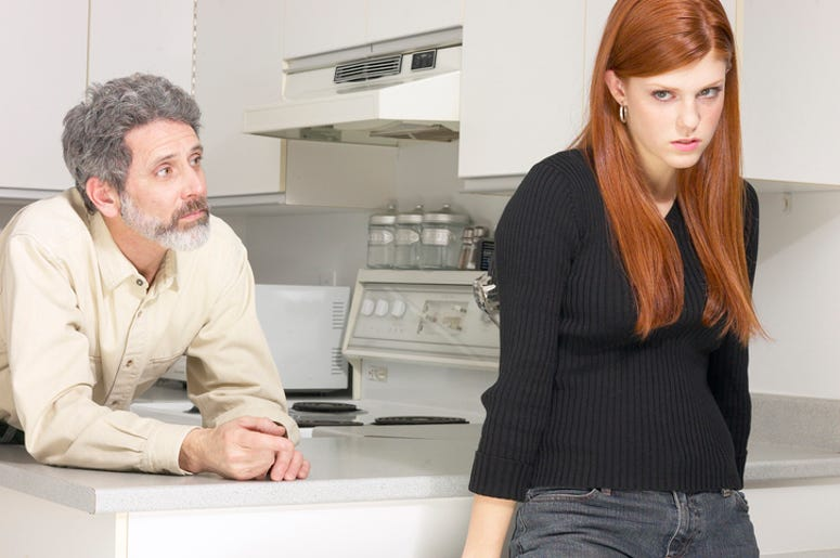 Woman Upset with Her Dad