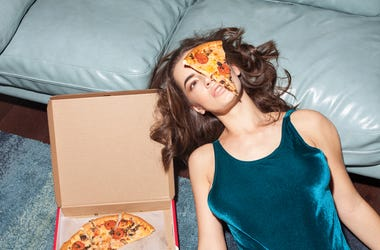 Woman Attacked by Pizza