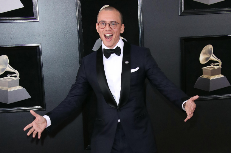 Logic arrives at the 60th Annual Grammy Awards