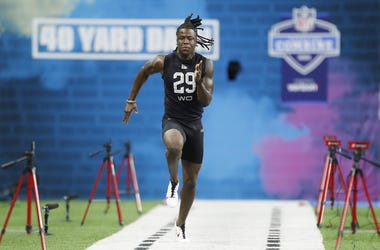 Jerry Jeudy at the NFL Combine