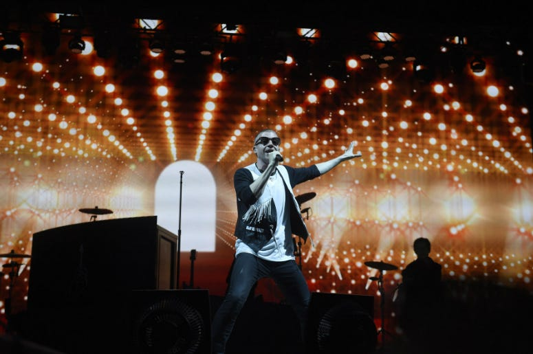 Macklemore performs during the 2016 Bonnaroo Music and Arts Festival