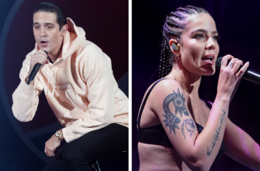 G-Eazy performs during the 2016 Jingle Bash on December 10, 2016 / Halsey performs during the 2017 Jingle Ball at SAP Center on November 30, 2017