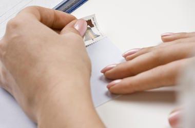 Stamp on an Envelope