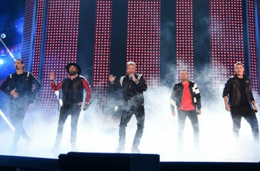 NASHVILLE, TN - JUNE 6: (L-R) Kevin Richardson, AJ McLean, Brian Littrell, Howie Dorough and Nick Carter of the Backstreet Boys performs onstage at the 2018 CMT Music Awards at the Bridgestone Arena on June 6, 2018 in Nashville, Tennessee.