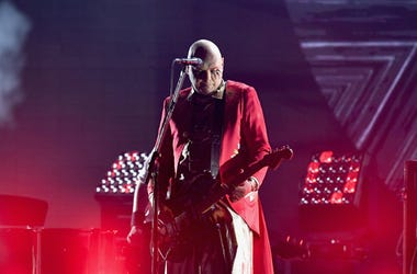 Billy Corgan of the band The Smashing Pumpkins performs on stage