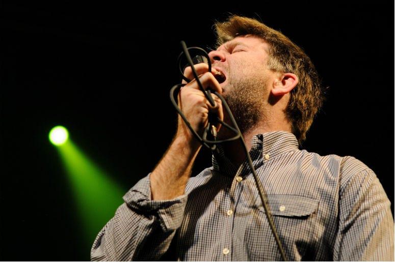 BARCELONA, SPAIN - NOV 6: LCD Soundsystem band performs at Razzmatazz on November 6, 2010 in Barcelona, Spain.