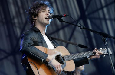 Vocalist and guitarist Andrew VanWyngarden from US band MGMT performs with his group during the last day of the second edition of the International Festival of Alternative Music Lollapalooza in Santiago de Chile, Chile