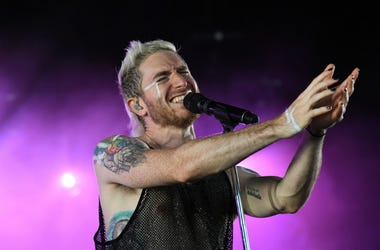 Nicholas Petricca of Walk The Moon performs at Coral Sky Amphitheater