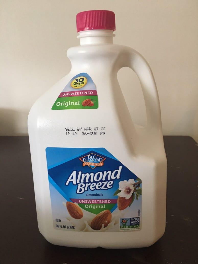 Almond Milk Front