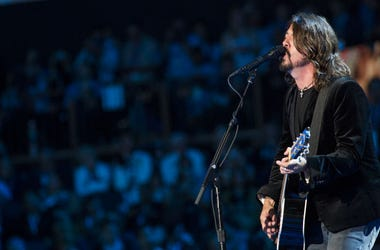 Dave Grohl of the Foo Fighters on stage