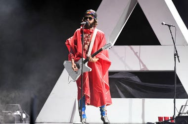 Jared Leto of Thirty Seconds To Mars performs at Perfect Vodka Amphitheater