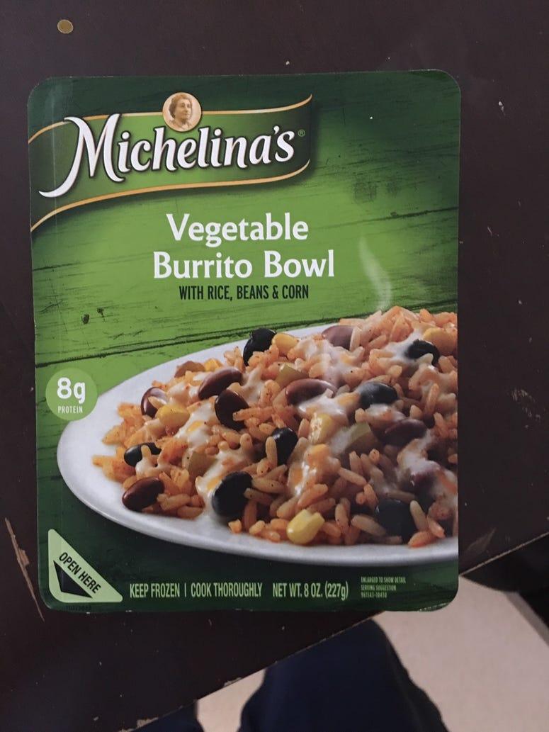 Veggie Burrito Bowl Front