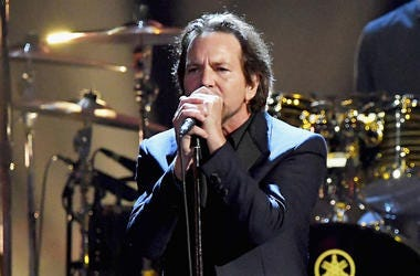 Eddie Vedder of Pearl Jam performs onstage at the 32nd Annual Rock & Roll Hall Of Fame Induction Ceremony