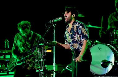 Young the Giant performs on stage during KROQ Absolut Almost Acoustic Christmas