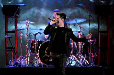Brendon Urie of Panic! at the Disco performs onstage