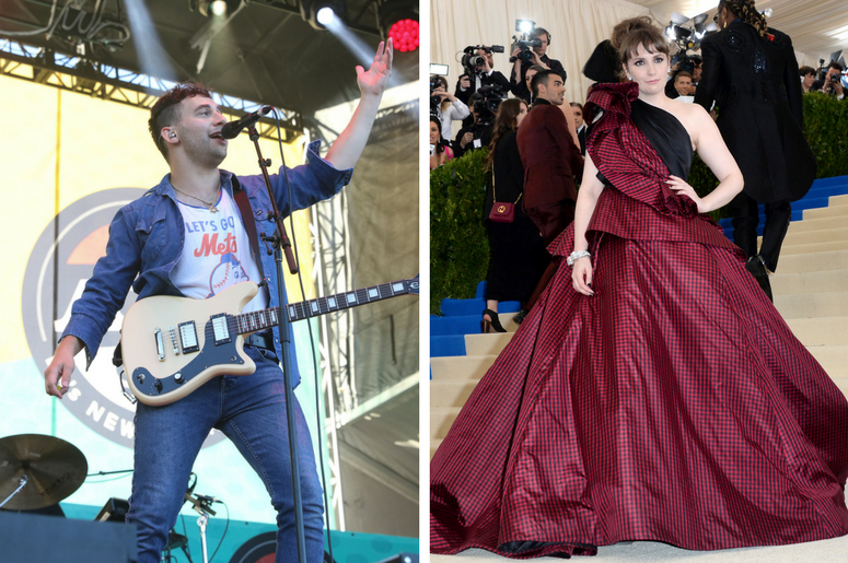 Jack Antonoff of Bleachers and Lena Dunham