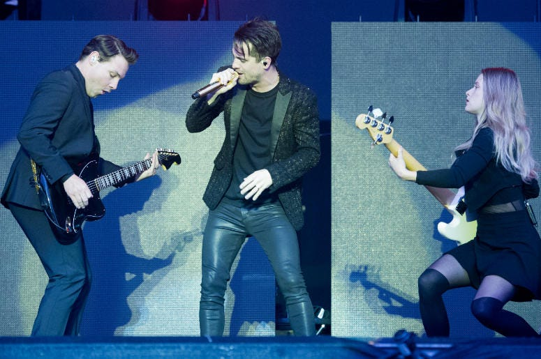 Panic! At The Disco performs on stage on day 3 of Leeds Festival on 26 August, 2018