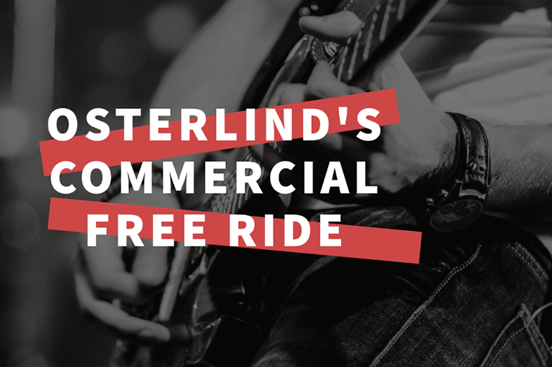 Osterlind's Commercial Free Ride