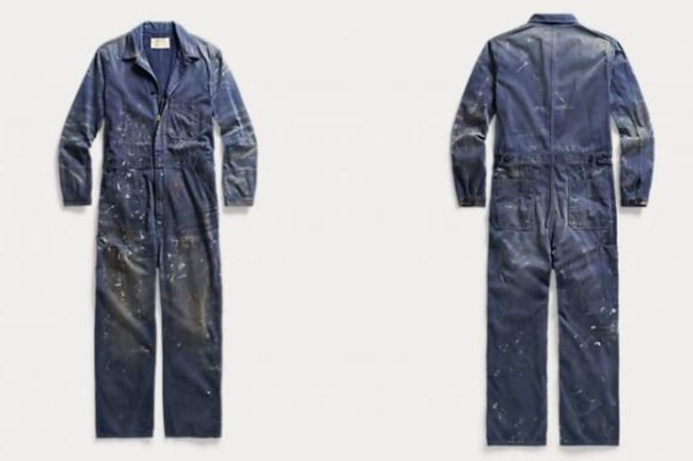 Luxury fashion brand Ralph Lauren has been slammed and ridiculed online for selling a pair of paint-covered overalls for $695.