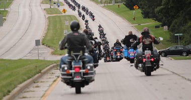 A record turnout for the 12th Annual Big Unit's Poker Run