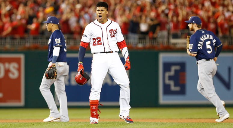 Juan Soto gives the Nationals the lead in the Wild Card game