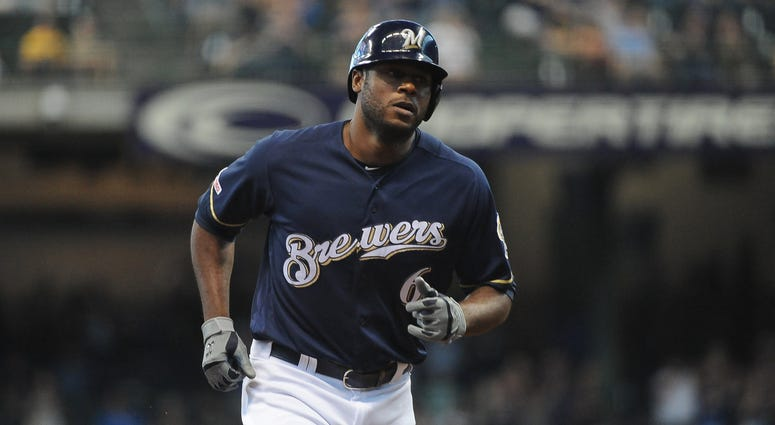 Lorenzo Cain with the Milwaukee Brewers