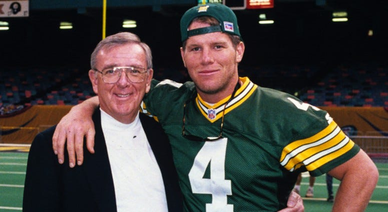 Ron Wolf and Brett Favre
