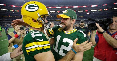 Mason Crosby and Aaron Rodgers