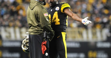 Antonio Brown Mike Tomlin Steelers