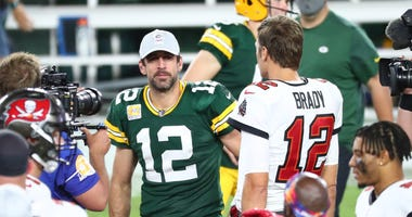 Packers Aaron Rodgers Tom Brady