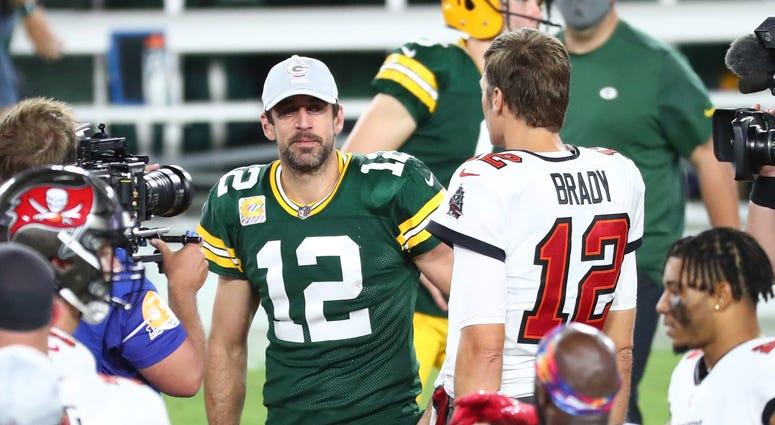 Packers Aaron Rodgers Tom Brady