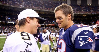Tom Brady Drew Brees Saints