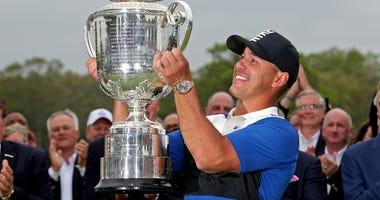 Brooks Koepka PGA Championship Wanamaker Trophy