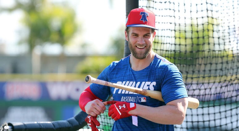 Bryce Harper Philadelphia Phillies MLB Spring Training