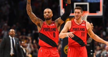 Damian Lillard Trail Blazers Nuggets Game 7