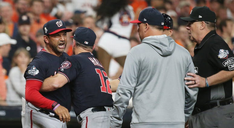 Dave Martinez Nationals World Series ejection
