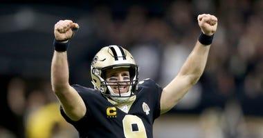 Drew Brees Saints Peyton Manning
