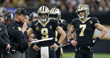 Drew Brees Taysom Hill Sean Payton Saints