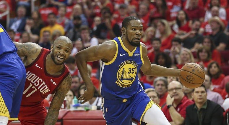 Kevin Durant Warriors Rockets