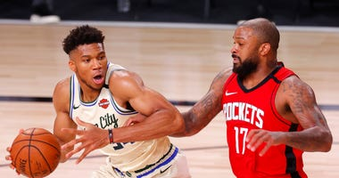 Giannis Bucks Rockets NBA Restart