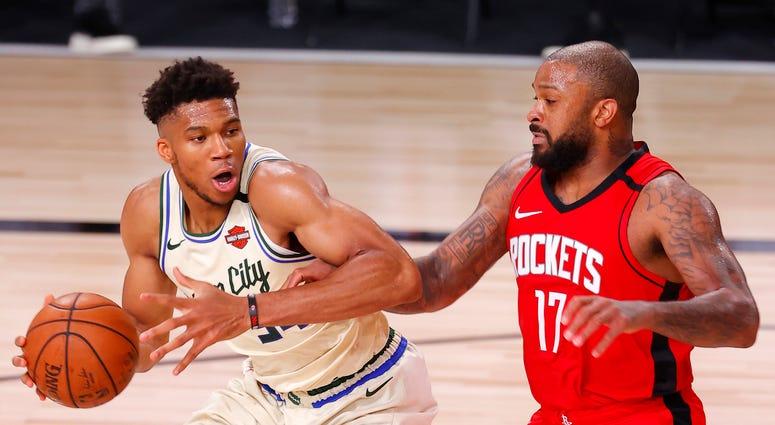 Giannis Bucks Rockets NBA Restart