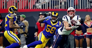 Rob Gronkowski Patriots Rams Super Bowl